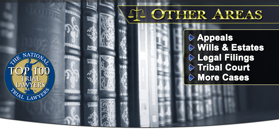 Click For More Information About Our Attorneys for All Our Firm's Practice Areas! Inluding Criminal Law, Family Law, Traffic Law, Tribal Law, Legal Filings & More